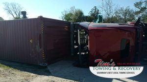 Semi Truck Rush Hour            Catastrophe Narrowly Averted by Tim's Heavy Towing 5