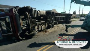 Semi Truck Rush Hour            Catastrophe Narrowly Averted by Tim's Heavy Towing 7