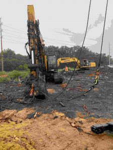Excavator Pushing Up During Off-Road Recovery Savannah