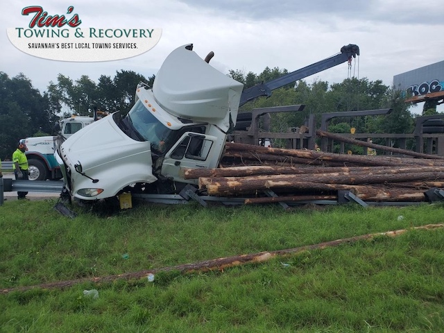 Heavy Recovery Effort Moves Timbers 1